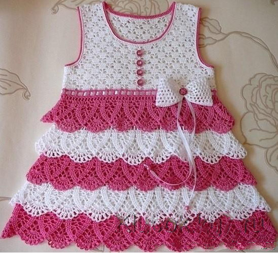 Perfect Crochet Baby Dress With Ruffles Step By Step Free