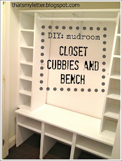 mudroom closet shoe cubbies and bench