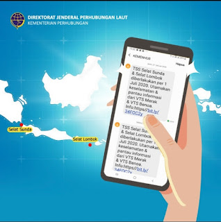 TSS Selat Sunda dan Lombok Disosialisasikan Via SMS