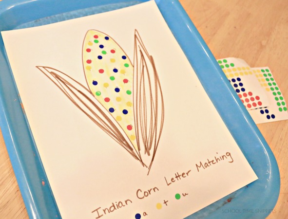preschool letter matching with stickers