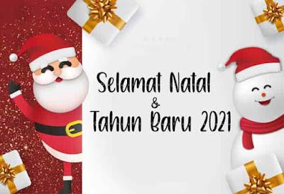 gambar selamat natal dan tahun baru 2021