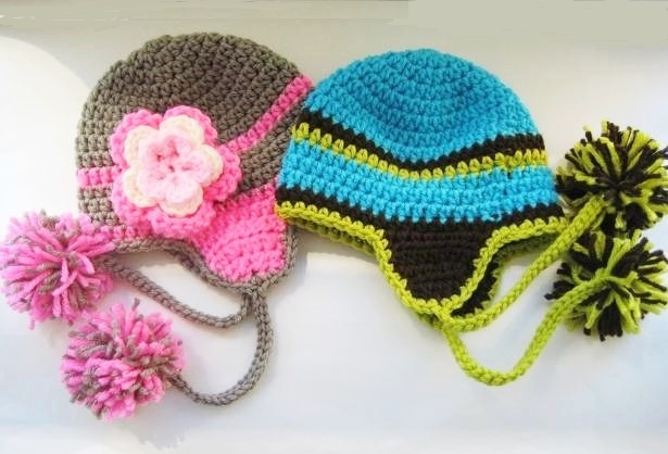 Crochet Dreamz Madison Earflap Hat For Boys And Girls Newborn To