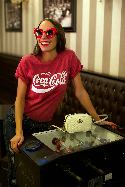 maglietta coca cola
