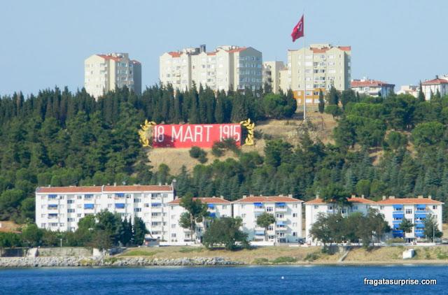 lembrança da Batalha de Galípoli em Eceabat, Turquia