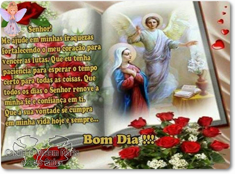 Bom Dia Familia: Cantinho Virgem Maria E Seus Anjos: BOM DIA FAMÍLIA