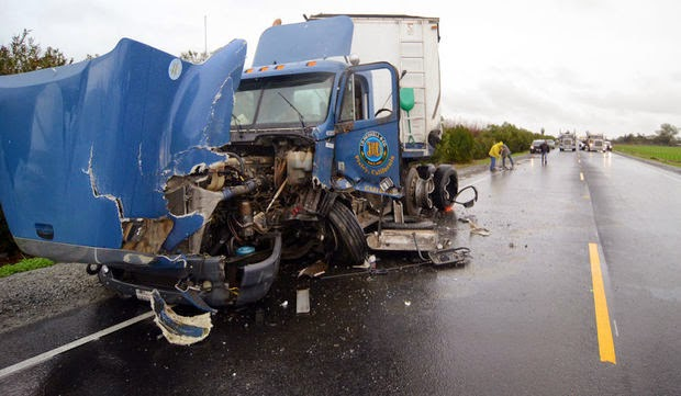fatality highway 43 kings county semi truck crash corcoran man killed