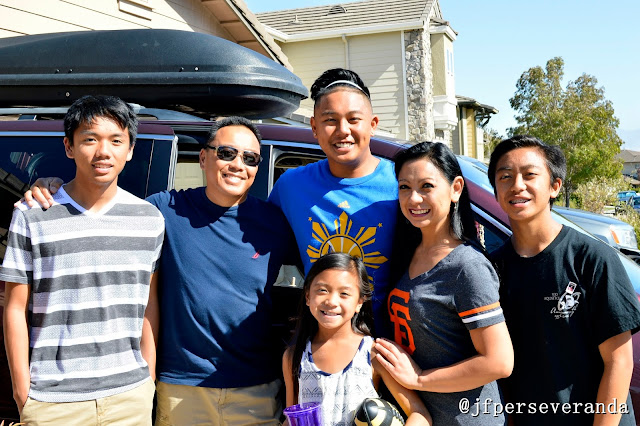Ronick Putong goes to college, Cal Poly SLO. The Putong family: Joy, Vince, Ronick, Dino, Keo, Angel Joy