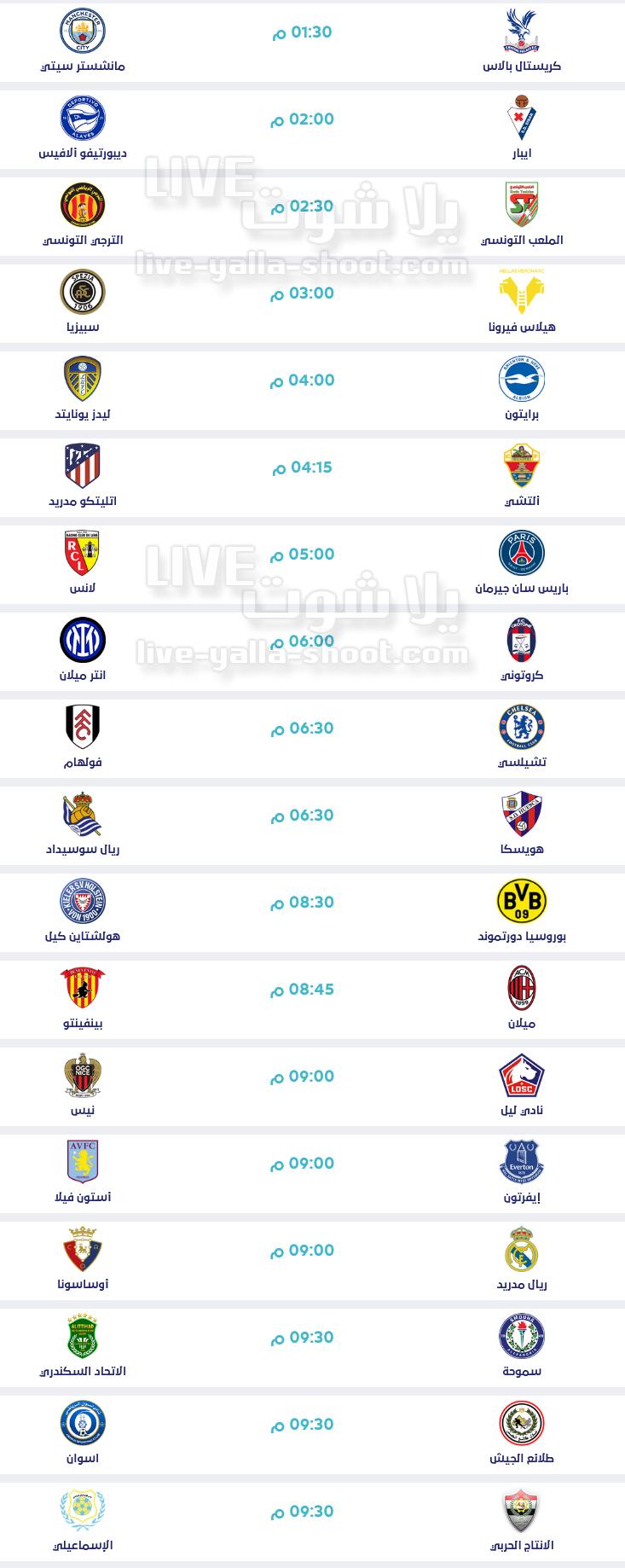 مواعيد أهم مباريات اليوم السبت 1-5-2021 والقنوات الناقلة