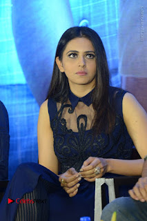 Actress Rakul Preet Singh Stills in Beautiful Blue Long Dress at Dhruva Salute to Audience Event  0072.JPG