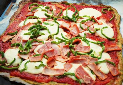 Pizza pâte aux courgettes