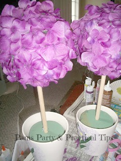 DIY Flower Pot Topiaries