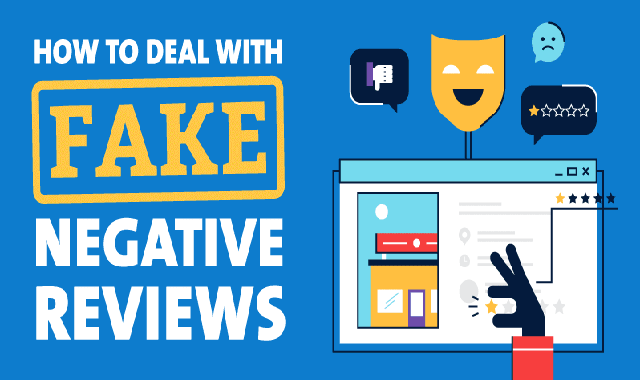 How to Deal With Fake Negative Reviews #infographic