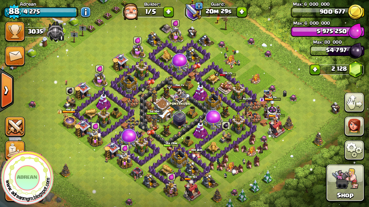 Base Coc Th 8 Anti Bintang 3 10