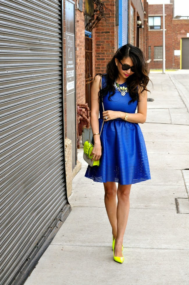 Electric Blue Dress Sandro Paris Part 2 Red Soles And