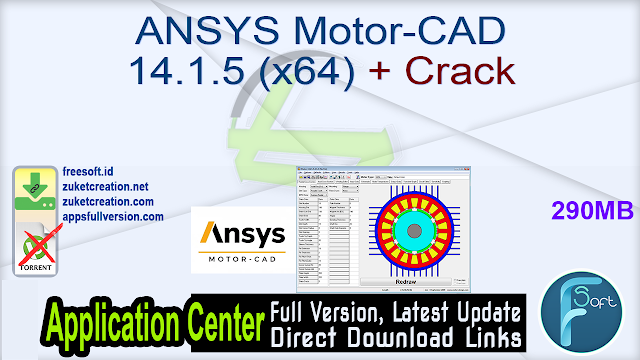 ANSYS Motor-CAD 14.1.5 (x64) + Crack