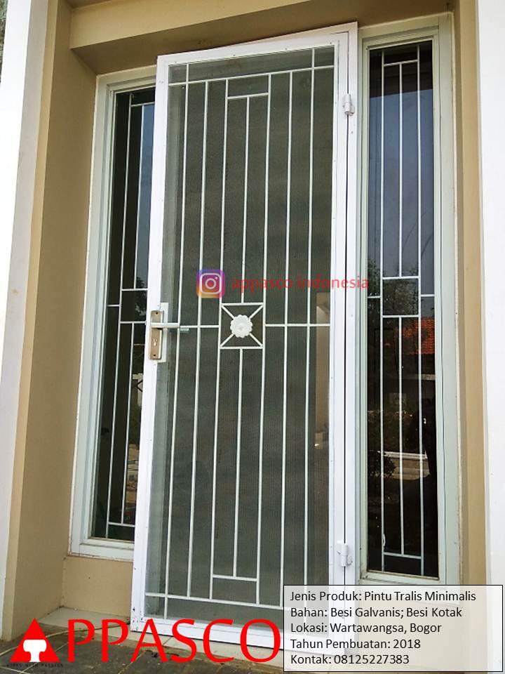 Pintu Teralis Minimalis Galvanis di Wartawangsa Bogor