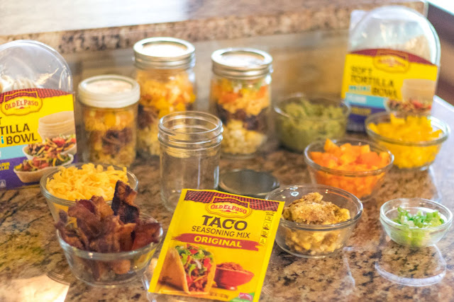 Make Ahead Mason Jar Breakfast Burrito Bowl Recipe