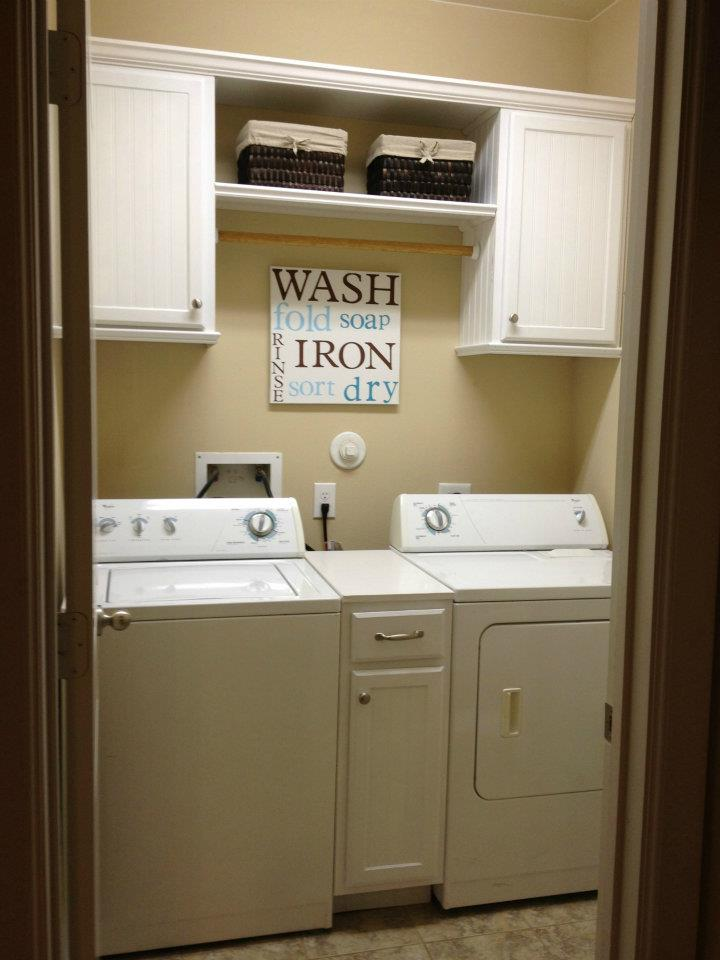 Walls under construction laundry room makeover - Laundry room cabinet ideas ...