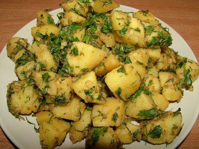 Ziemniaki w marynacie ziołowo-imbirowej