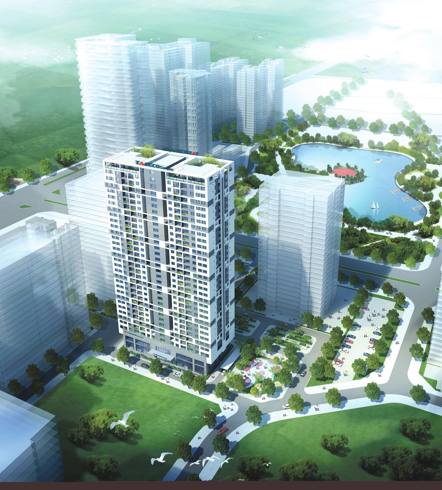 Chung cư Taseco Complex - tọa lạc tại trung tâm khu Đoàn Ngoại Giao