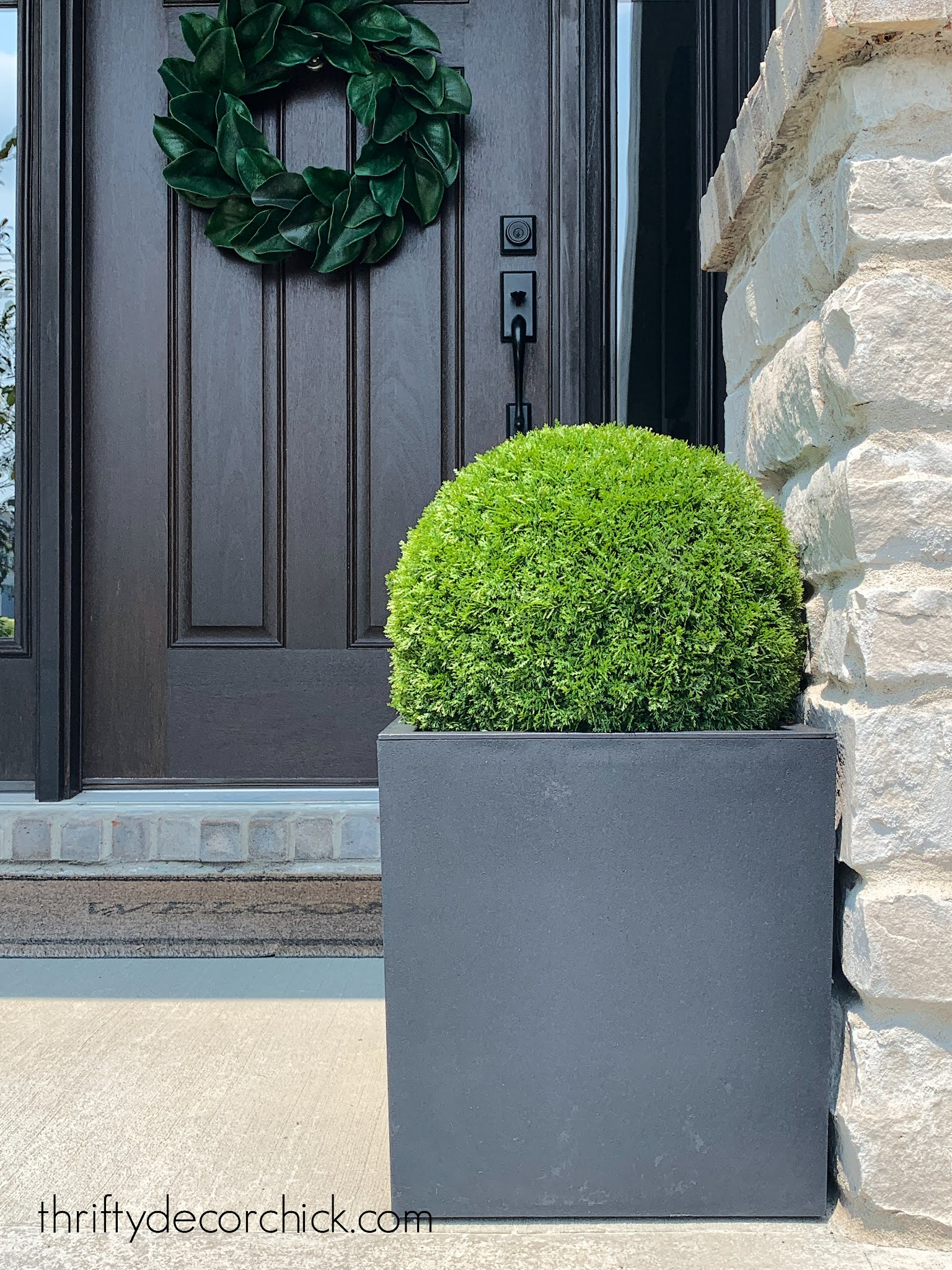 fake topiary for planters