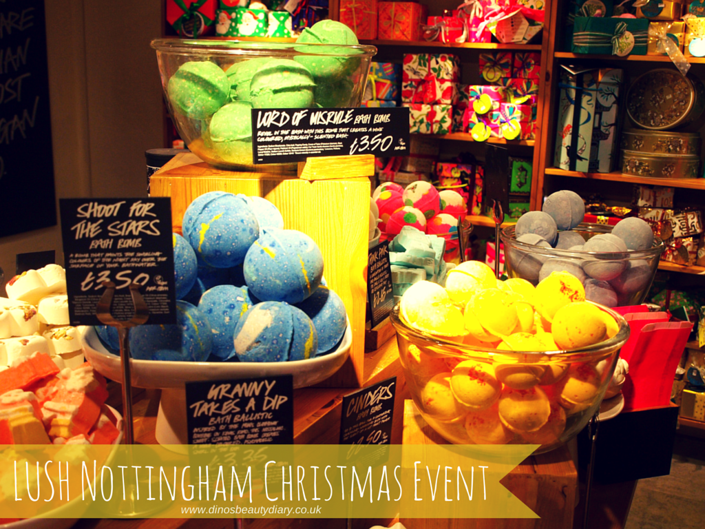 Dino's Beauty Diary - Lush Nottingham Bloggers Event -