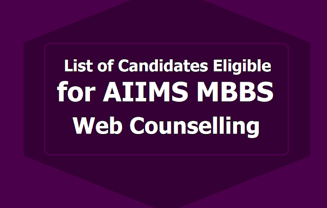 AIIMS MBBS Exam Results 2019: List of candidates eligible for Seat Allocation/ Online Counselling