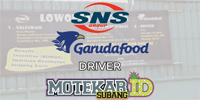 Info Loker Driver Garudafood PT. Sinar Niaga Sejahtera Subang Mei 2019