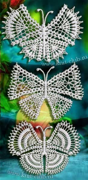 Patrón #816: Mariposas a Crochet