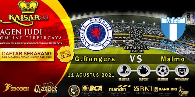 Prediksi Bola Terpercaya Liga Champions G.Rangers vs Malmo 11 Agustus 2021