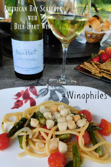 Bay Scallops with wine