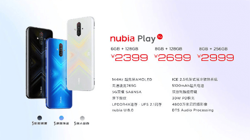 China pricing of nubia Play