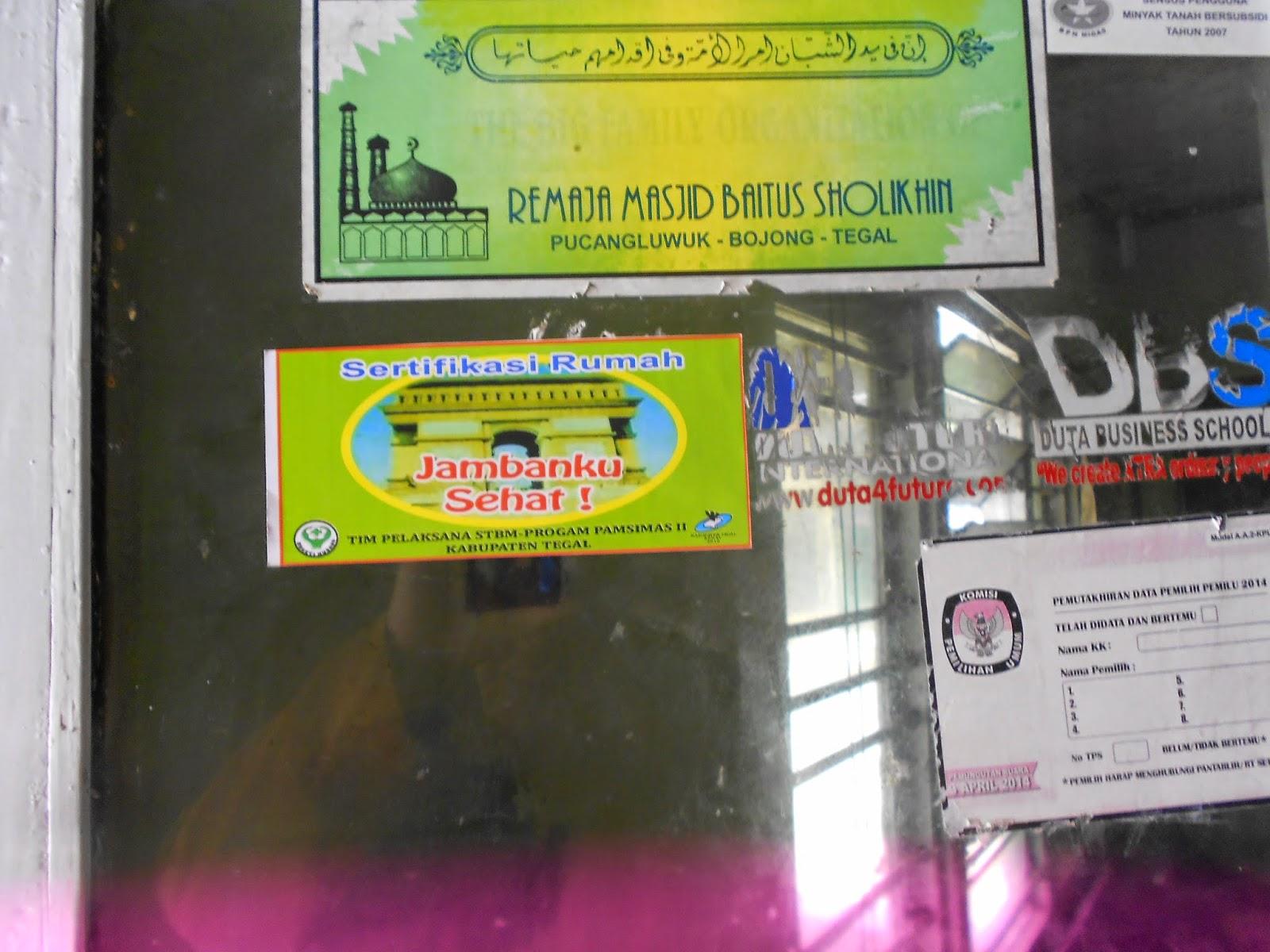 Uptd Puskesmas Danasari Kabupaten Tegal Pemasangan Stiker