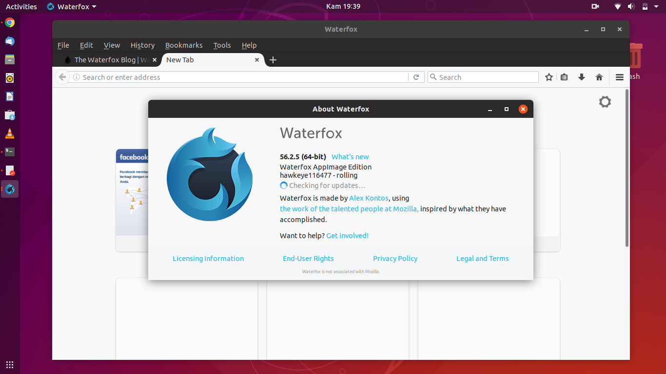 WaterFox Browser, Recoded From Mozilla (Install AppImage on Ubuntu