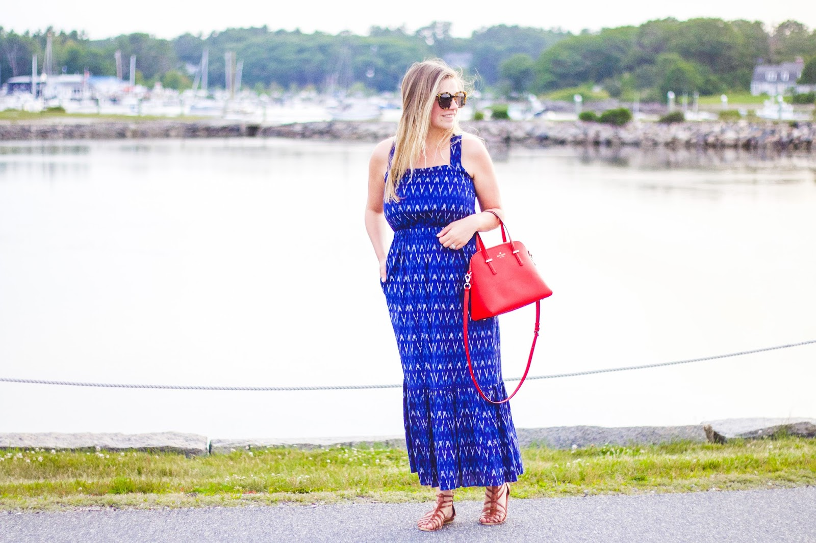 b16b6eb6b1 Style Cubby - Fashion and Lifestyle Blog Based in New England: Blue Ikat  Maxi Dress