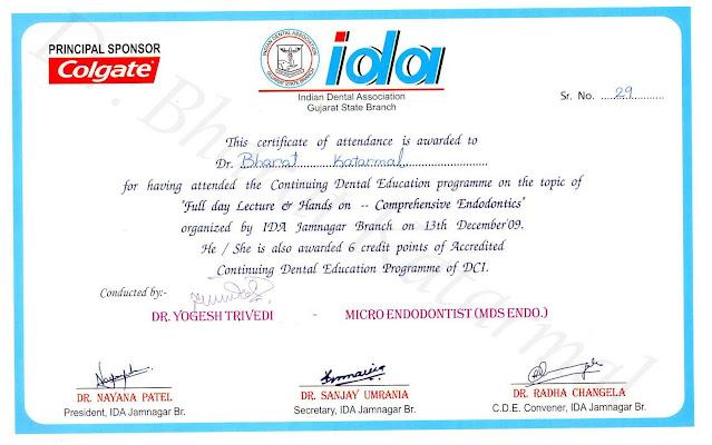 Full day Lecture and Hands on Comprehensive Enddontics under Dr. Yogesh Trivedi
