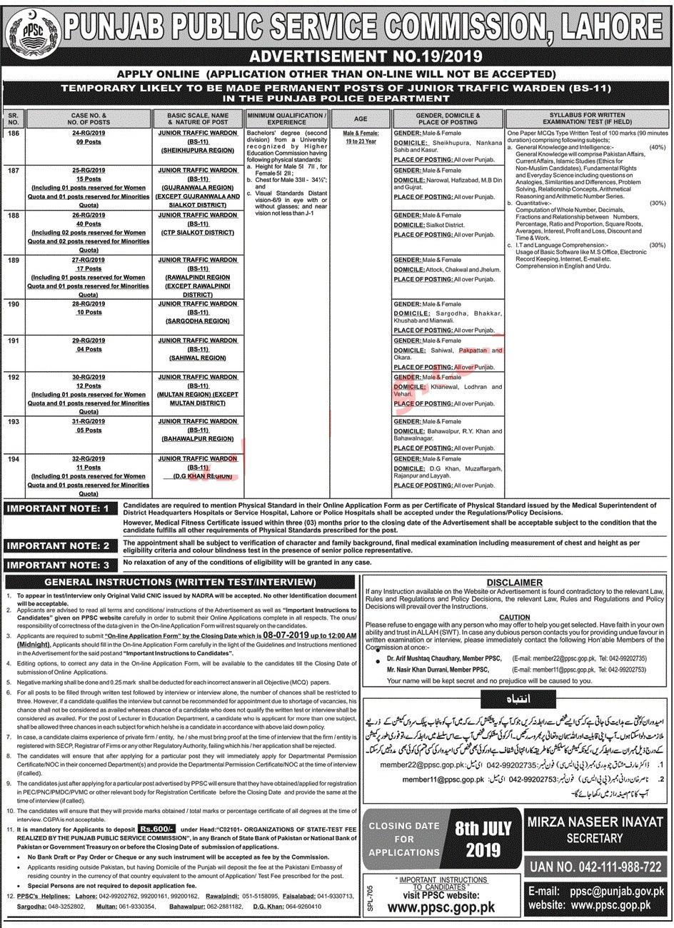 Traffic Warden Vacancies