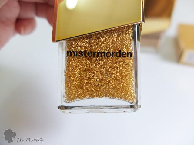 mistermorden 摩登先生指甲油-8001-GOLD FOIL TOP COAT-試色