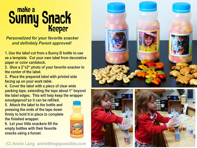 Annie Lang shares a DIY Snack Keeper project made from a Sunny D Bottle
