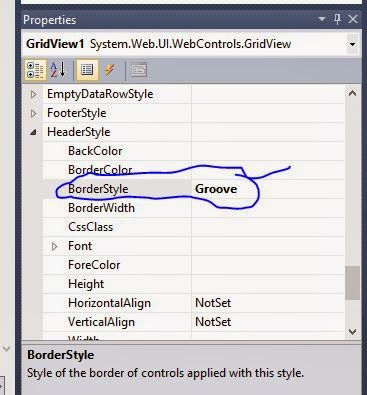 Change Header border style of Grid View in ASP.NET
