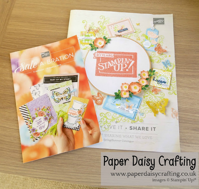 Paper daisy crafting - Stampin Up
