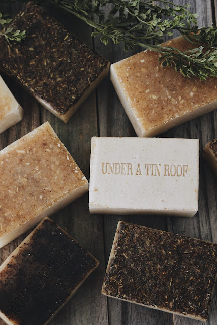 handmade soap, soap, Under a Tin Roof