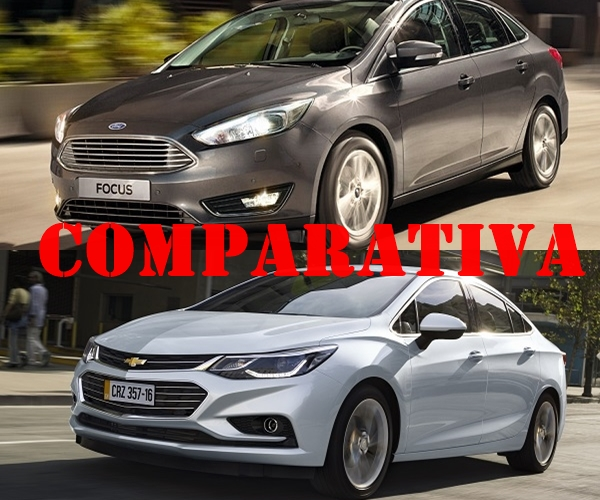 Comparativa Ford Focus 3 Sedán S 2017 y Chevrolet Cruze II LT MT