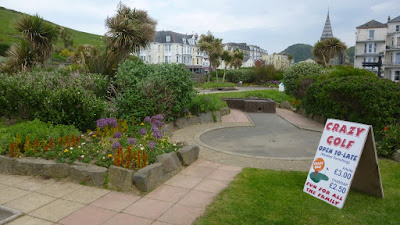 Crazy Golf on the Promenade in Ilfracombe, Devon