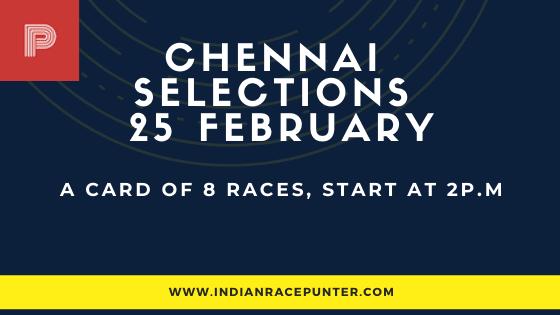 Chennai Race Selections 25 February