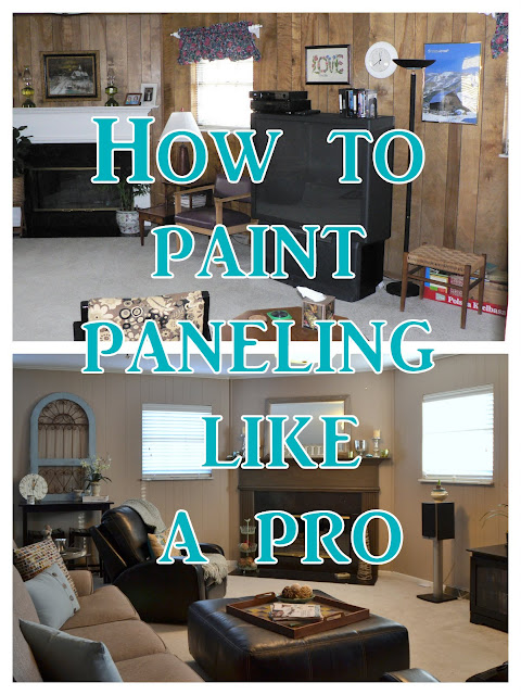 Paint Wood Paneling: Postcards From The Ridge: Tutorial: How To Paint Paneling