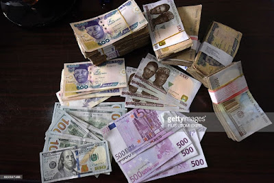 naira pounds euro dollar