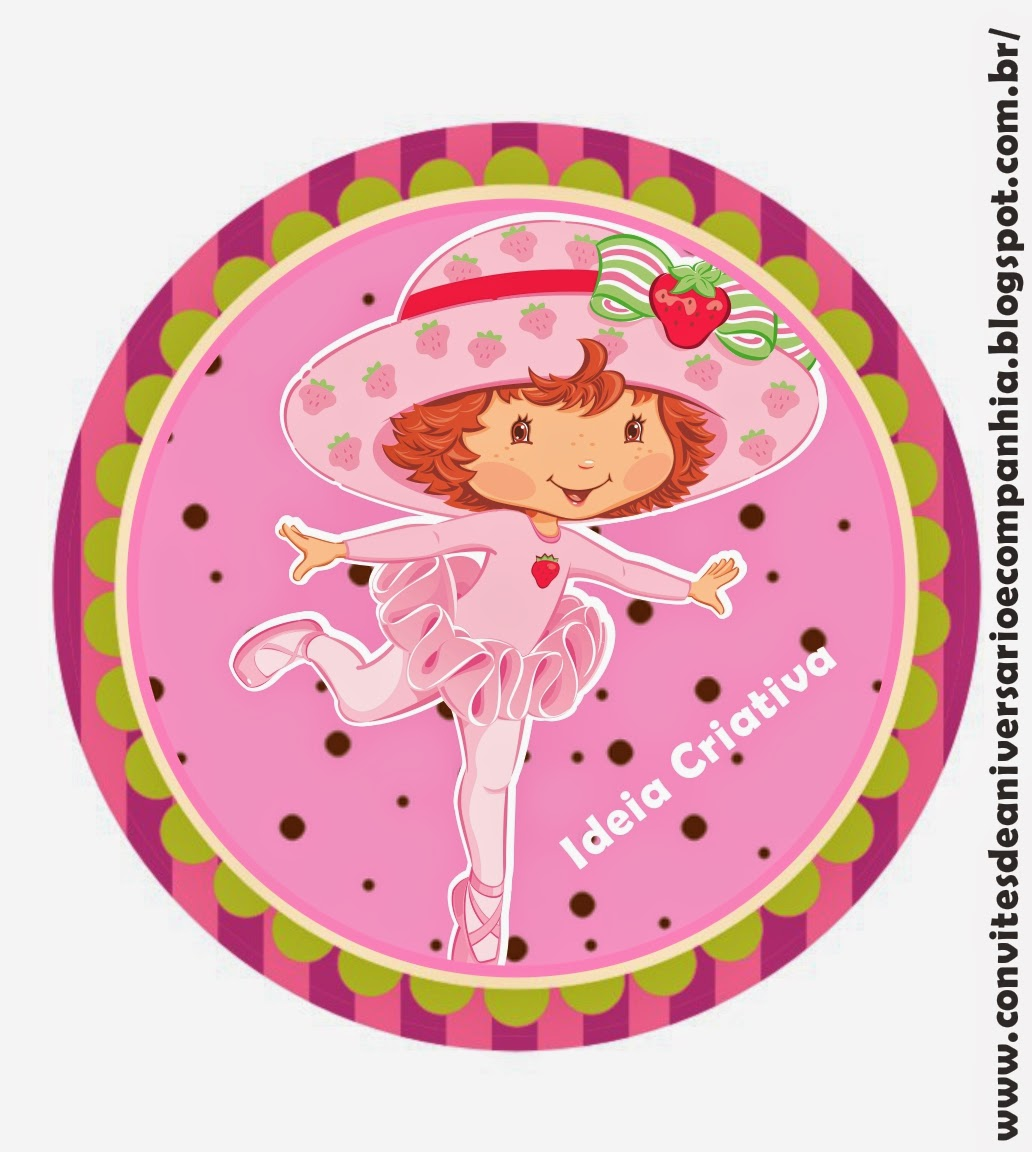 Strawberry Shortcake Free Printable Tags Toppers and Labels Oh