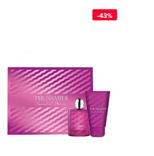 Set cadou pentru femei Trussardi Sound of Donna (Apa de parfum 50 ml + Lotiune de corp 100 ml)