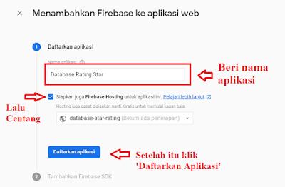 Mendaftarkan aplikasi web